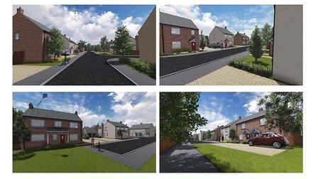 208 Coates Road, Coates, site for proposed 60 homes - designer's impression of new homes to be built