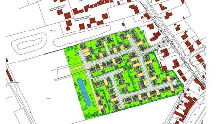 208 Coates Road, Coates, site for proposed 60 homes - site plan
