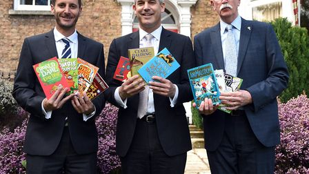 Read to Succeed 2017, Bowsers: Chris Ringham, Steve Barclay MP and Ian Groom.