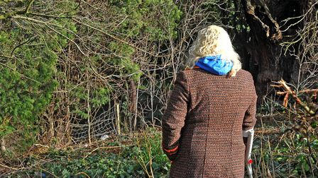 Ruth Neave who two years ago re-visited the spot near to where her son's body was found