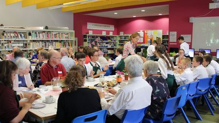 The eighth annual garden party at Neale-Wade Academy welcomed around 45 guests from the local commun