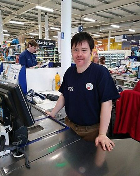 Work experience at Tesco was the best day of my life says FACET student Michael McEvoy PHOTO: Kris H