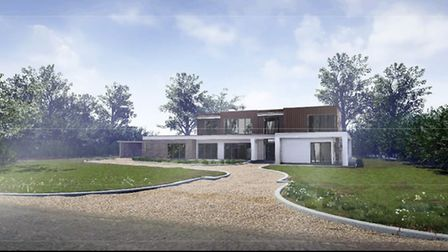 Architect's impression of the 'exemplar' home that Mayor James Palmer is to build at Soham
