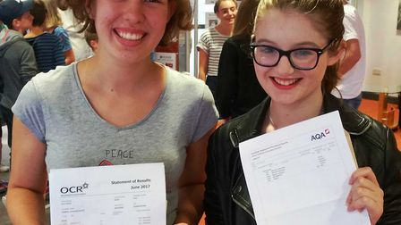 Ely College GCSE results day.