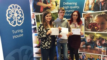 Ely College results day GCSE: Elly, Daniel & Ebony from Ely College hit the top spot in the new GCSE