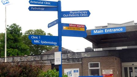 North Cambs Hospital entrance - the New Horsefair Clinic lift was broken for a month