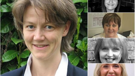 Women in key positions at East Cambs Council: deputy leader Cllr Anna Bailey (left) with (top right)