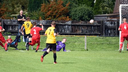 Toby Allen netted his second goal in as many games as March Town drew 1-1 with Leiston Reserves. Pho