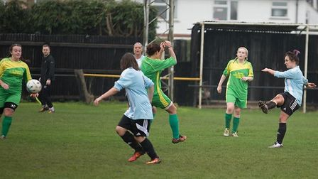 Livvi Hodges' double helped March Town Ladies to a 2-1 win over Hungate Rovers on Saturday. PHOTO: J