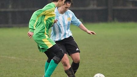 Livvi Hodges on the attack for March Town in their 2-1 friendly win over Hungate Rovers. PHOTO: Jon