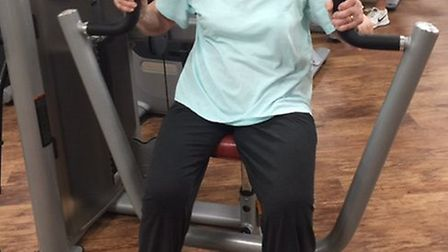 Gertrude Ciabanu, 94, attends the New Vision Fitness Manor Leisure Centre in Whittlesey three times