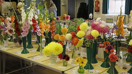 Some of the displays at the Bardfield Horticultural Society Show. Picture: DOUG JOYCE