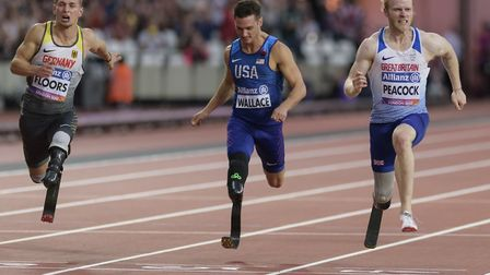 Jonnie Peacock won the T44 100m gold medal at the World Para Athletics Championships last month - an