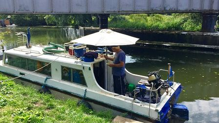 The boat that was donated to Ely 'Willow Man' Lee England.