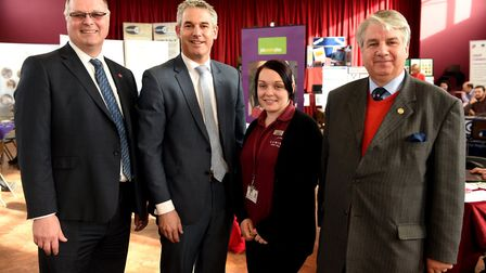 Richard Barnwell, new Vice Lord Lieutenant, seen here at a Jobs Cafe event in the Fens, right.