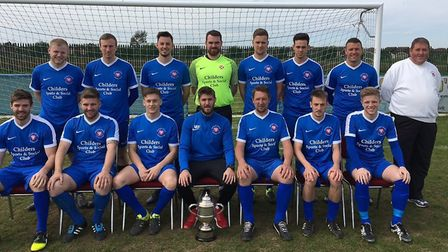 Whittlesey Athletic, led by manager Rick Hailstone (front row, third right), are back in the PDFL Pr