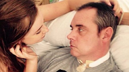Simon Dobbin's daughter Emily pictured with her dad who received devastating injuries in the attack