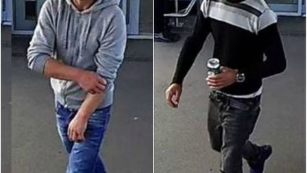 Images have been released of two men wanted in connection with sexual assaults on two women that hap