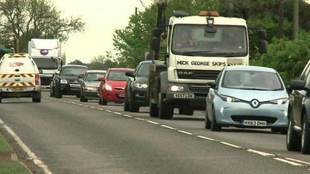 Congestion on the A10 Ely to Cambridge
