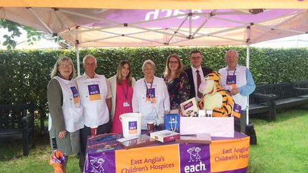 Racegoers at Newmarket Racecourses' Mot and Chandon July Festival helped raise 9,404 for the East An