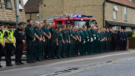Colleagues pay tribute Ely paramedic Lance Cox PHOTO: Ruby Wood