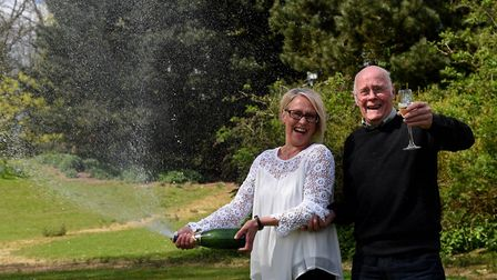 Father and daughter Lotto winners Lorraine and Derek Daniels of Whittlesey PHOTO: Liz Finlayson/Ver