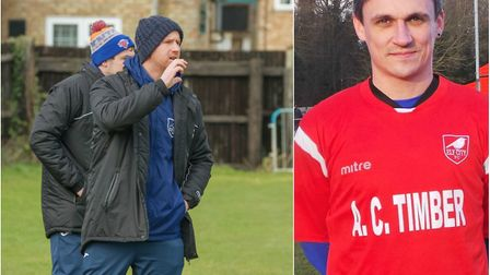 """Brady Stone says striker Sam Reed (right) was """"fantastic"""" in Ely City's 3-2 defeat to Histon last ni"""