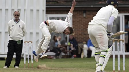 March captain Tyler Phillips in action in their 103 run victory over St Ives. Photo: PAT RINGHAM