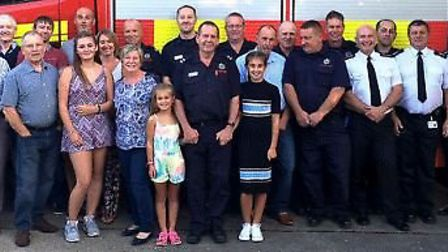 Chatteris crew commander celebrates 40 years in fire service with watch, former work colleagues and