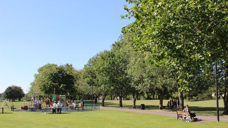 West End Park March where an alleged assault on a 14-year-old girl by other teenagers is being probe