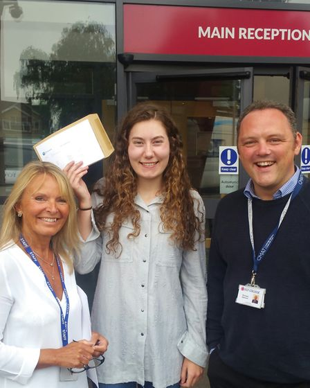 Students at Bishop Laney sixth form received their Post 16 results today (August 17).