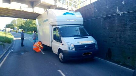 Police say they have become experts at handling vehicles stuck under the bridge at Ely rail station