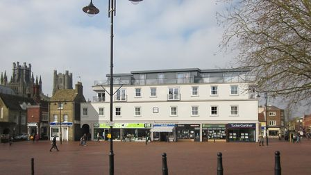 Re-development of Ely Market Place: Artist's impression of what the new block of flats will look lik