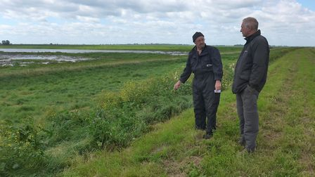 (left to right) Martin Le Roux and Charlie Kitchin at the reserve where the overhead lines once pass
