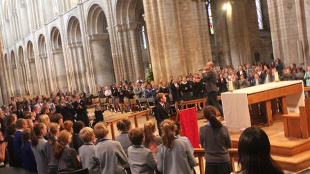 King's Ely 10th anniversary choral day. PHOTO: King's Ely.