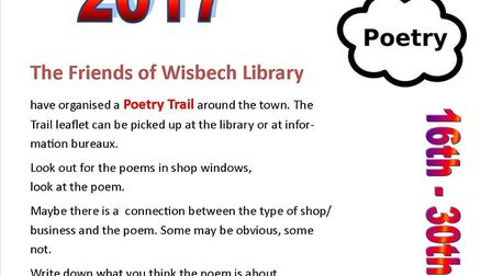 Poetry fun day trail in Wisbech