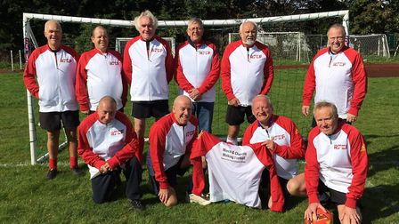 The March and Chatteris Walking Football team.