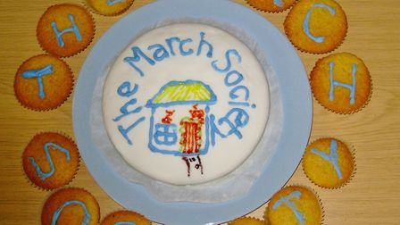 The March Society celebrated its 10th anniversary with a birthday cake.