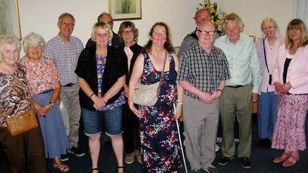 Members of The March Society at their June meeting.