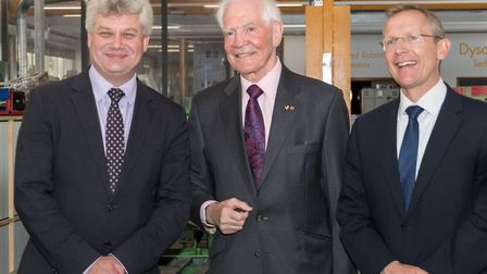 £2.5m for new professorship, Pro-Vice Chancellor Andy Neely, Dr Taylor and Dr Minshall.jpg