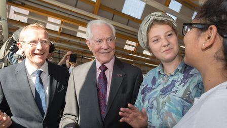 £2.5m for new professorship, Dr Minshall and Dr Taylor speak with students