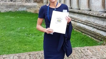 Ely Cathedral gets its certificate of excellence from Trip Advisor. Jocelyn Palmer, visitor experien