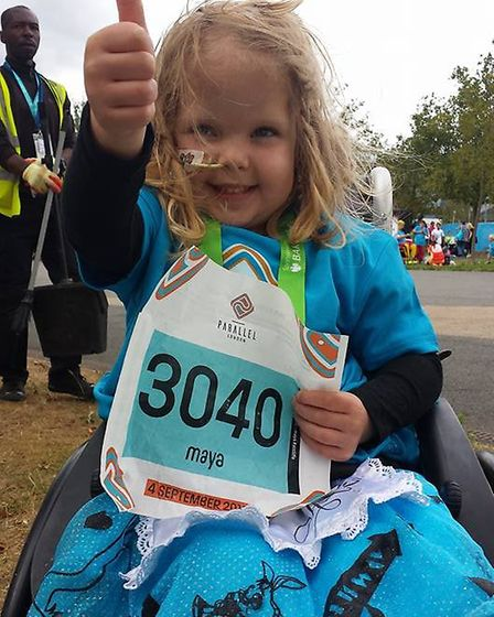 Maya Ratcliffe of Whittlesey dreams of competing at the paralympics