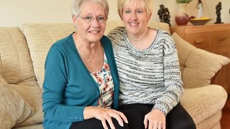 Joan Rye pictured with her daughter Sarah has had her liver transplant following a story In the EDP