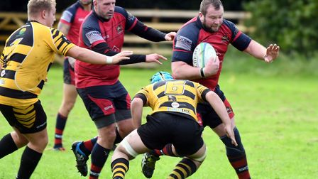 Action from Wisbech's clash with Ely Tigers. Photo: IAN CARTER