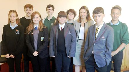 MP Lucy Fraser arranges the second debating skills training day for students from the Ely area