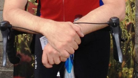 David Martin after completing the cycle challenge