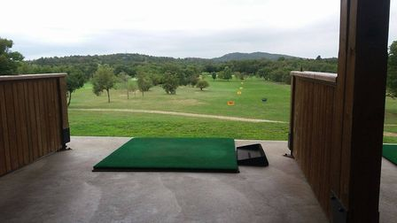 View from the driving range at Trieste golf club arranged through tour oeprators Italy Golf and More
