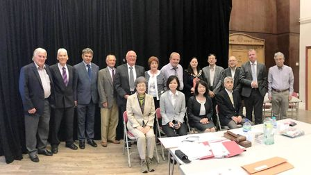 Japanese visitors at March Town Council PHOTO: Councillor Jan French