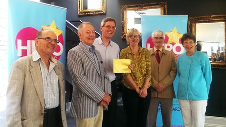 Ely Heroes Awards. From the left is the staff of the Ely Foodbank which are Volunteer Gerald Fox, Cl